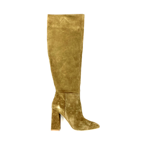 Free People Suede Block Heel Over the Knee Boots-Right