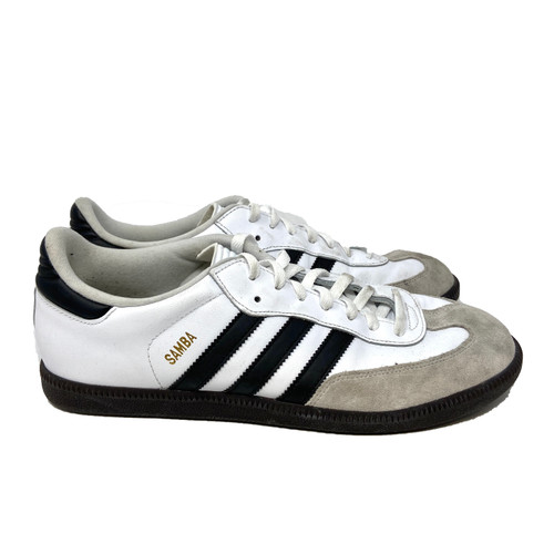 adidas Samba in White Leather- Right