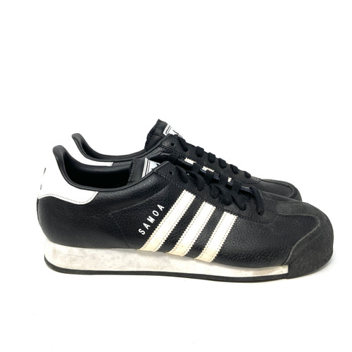 adidas Samoa in Black Leather- Right