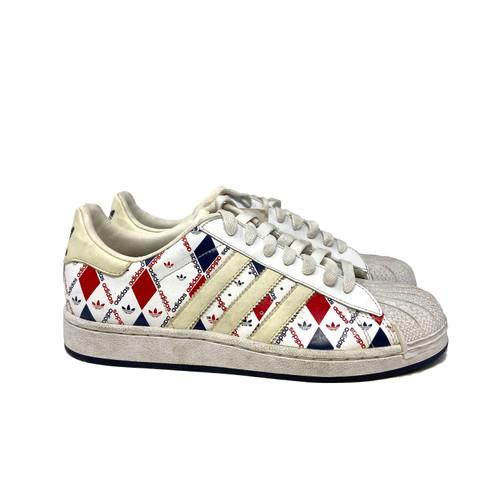 adidas Originals Superstar in Tricolor Rombus- Right