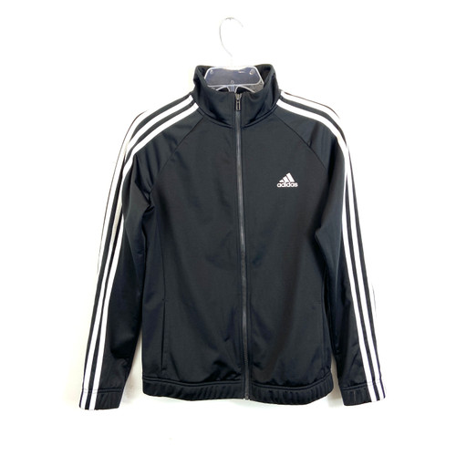 adidas Zip Up Fleece Lined Track Jacket- Front