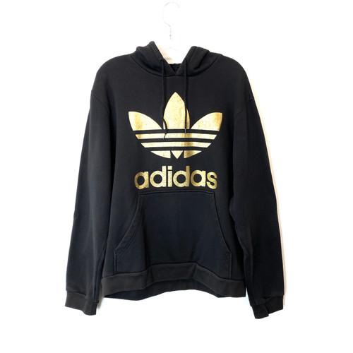 adidas Big Gold Logo Hoodie- Front