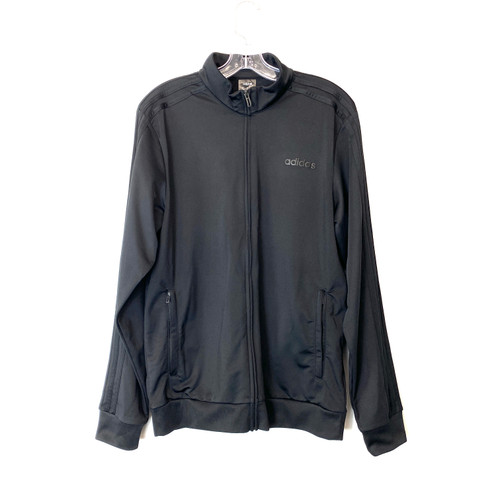adidas All Black Track Jacket- Front