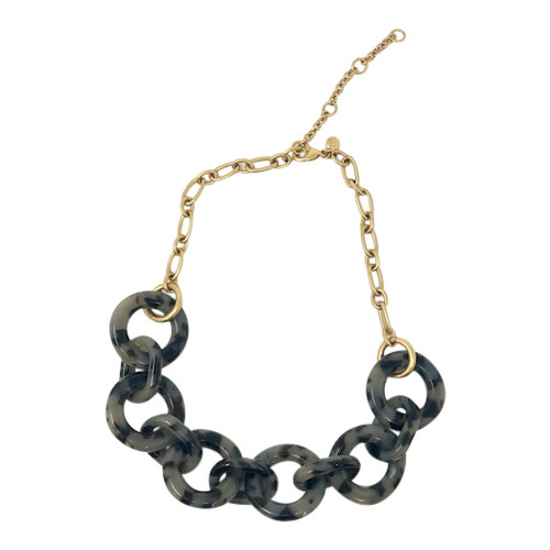 J.Crew Tortoiseshell Chain Link Necklace-Thumbnail