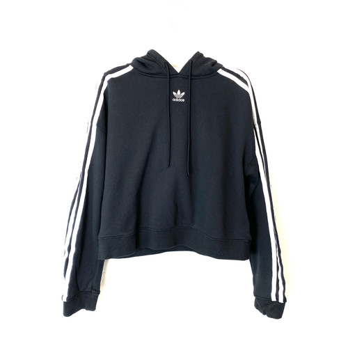 adidas Mini Logo Cropped Hoodie- Front