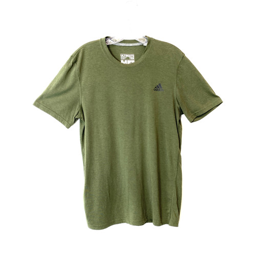 adidas Lightweight Ultimate Tee in Olive- Front