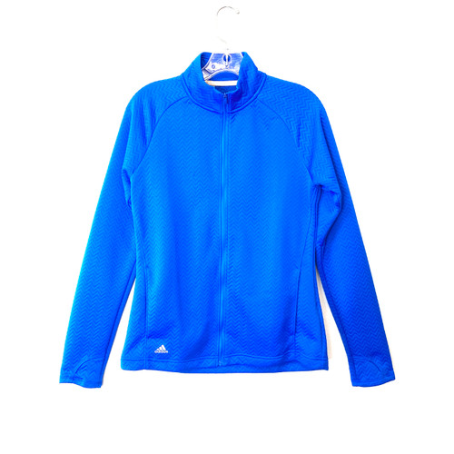 adidas Quilted Chevron Fitted Warm Up Jacket- Front