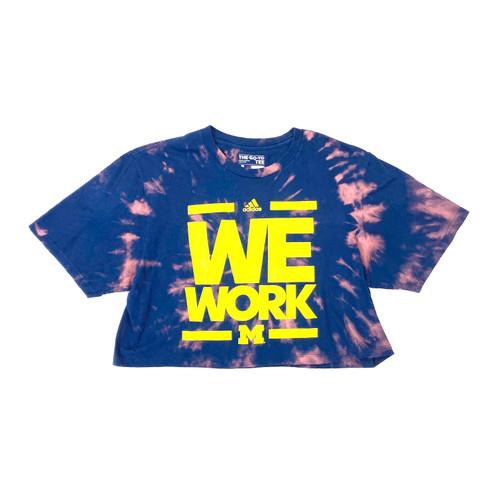 adidas We Work Tie Dye Crop T-Shirt- Front