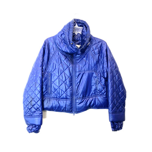 adidas x Stella McCartney Cropped Quilted Puffer- Front