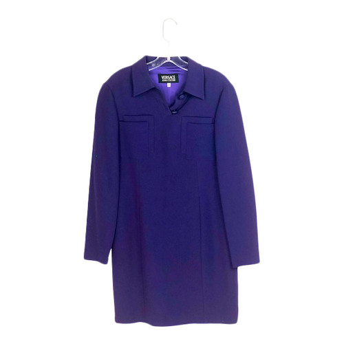 Versace Jeans Couture Collared Shift Dress-Thumbnail