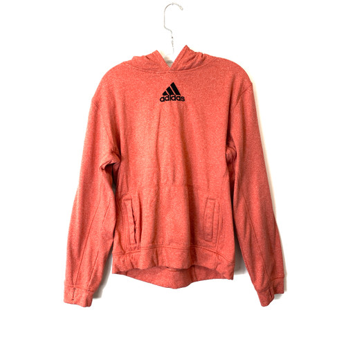 adidas Coral Heathered Hoodie with Thumb Holes- Front