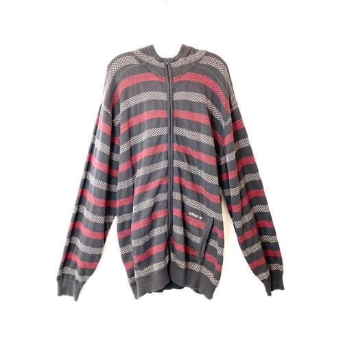 adidas Argyle Stripes Knit Hoodie- Front