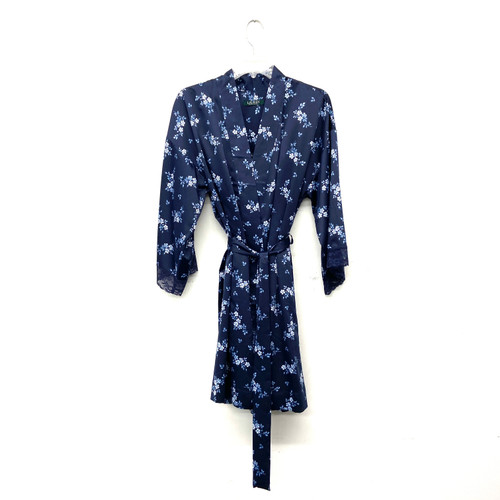 Ralph Lauren China Blue Floral Robe- Front