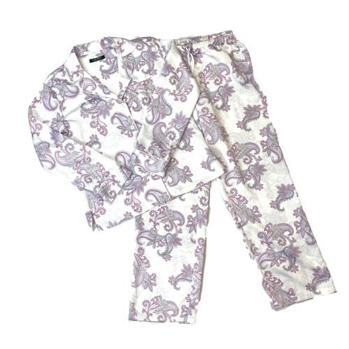 Ralph Lauren Satin Paisley Pajama Set- Thumbnail