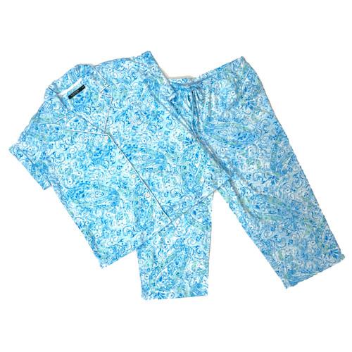 Ralph Lauren Watercolor Capri Pajama Set- Thumbnail