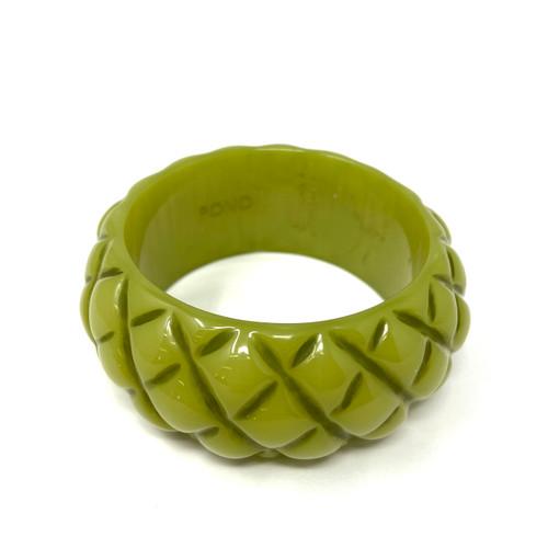 PONO Lime Pineapple Texture Bangle- Front