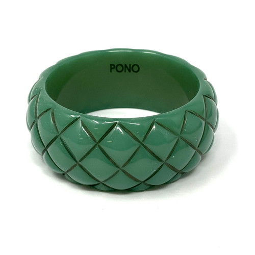 PONO Rose Pineapple Texture Bangle- Front