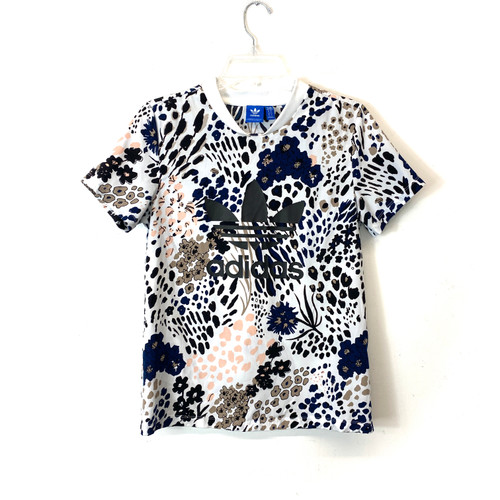 adidas Floral Print T-Shirt- Front
