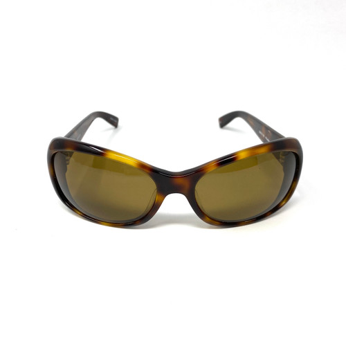 Oliver Peoples Polarzied Tortoiseshell Sunglasses- Front