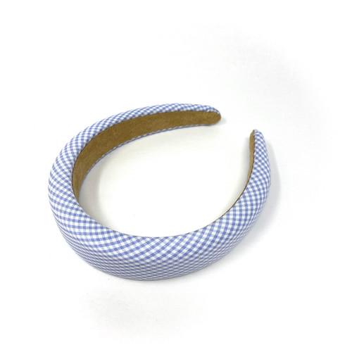 Gingham Puffy Headband- Thumbnail