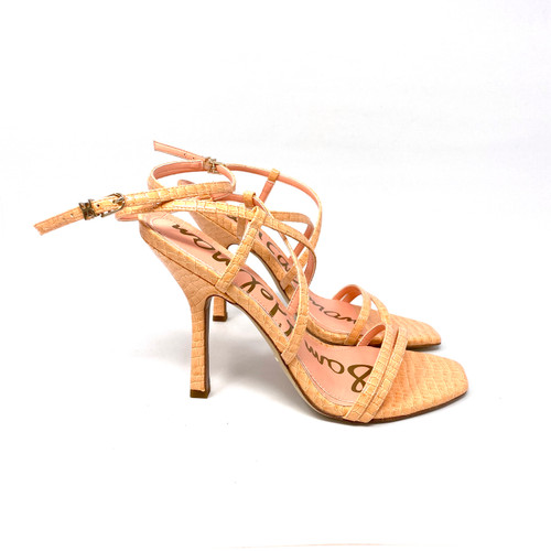 Sam Edelman Strappy Croc Embossed Sandals- Right