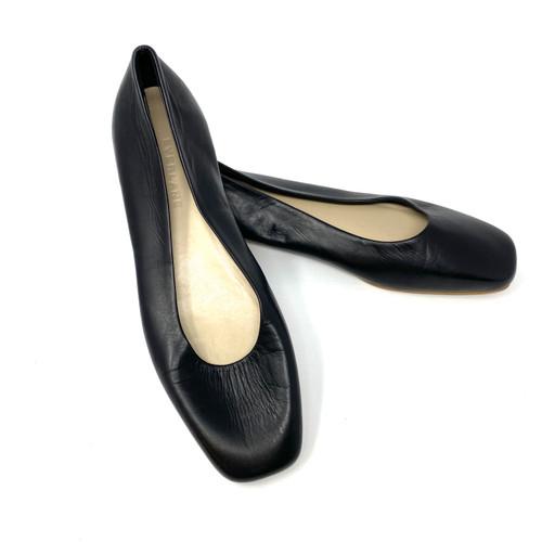 Everlane Black Round Heel Ballet Flat- Thumbnail