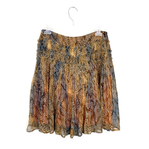 Peruvian Connection Peacock Feather Skirt- Front