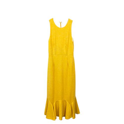 Hutch Stretch Jacquard Maxi Dress- Front