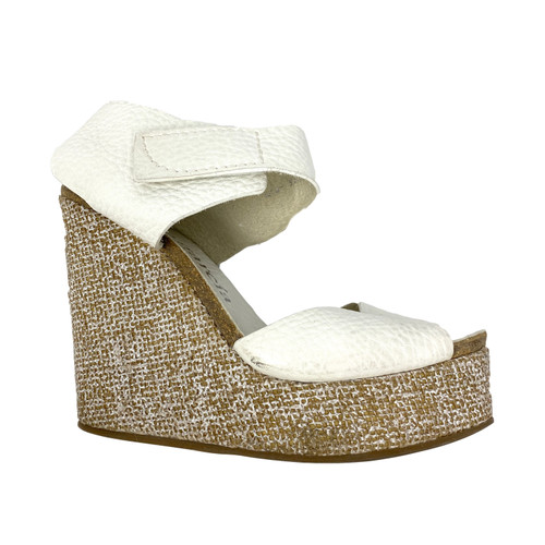 Pedro Garcia Textured Cork Wedges- Right