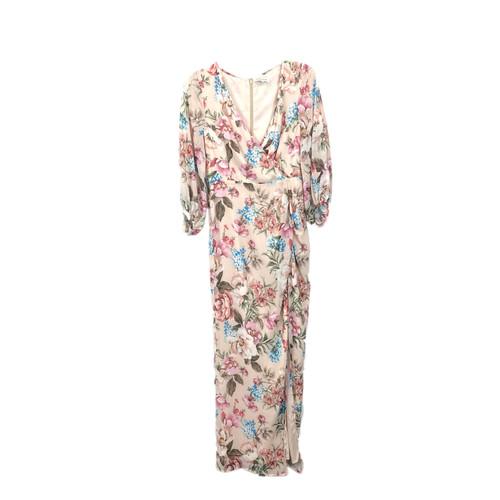 Yumi Kim Wrap Top Gathered Sleeve Maxi Dress- Front