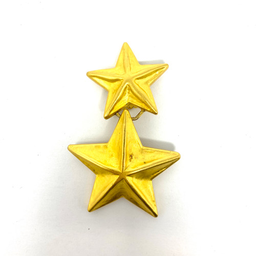 Vintage Convex Star Single Statement Earring- Thumbnail