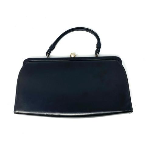 Vintage Matte Leather Frame Bag- Front