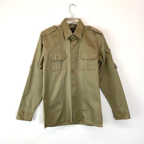 Vintage Ça Va Military Style Button Down- Front