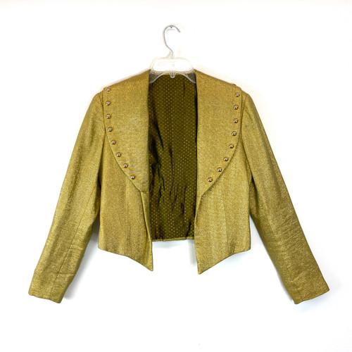 Vintage Gold Oversized Collar Jacket- Front