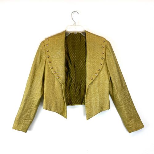 Vintage Gold Oversized Collar Jacket- Front