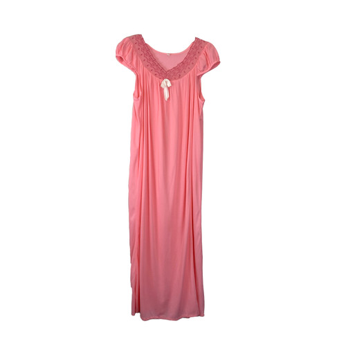 Vintage Puff Sleeve Night Gown- Front