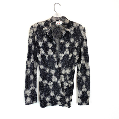 Vintage Missoni Abstract Jacquard Knit Jacket- Front