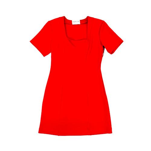 HERJA Ruby Square Neck Mini Dress- Front