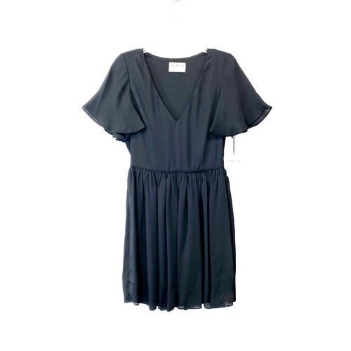 HERJA Black Flirty Mini Dress- Front