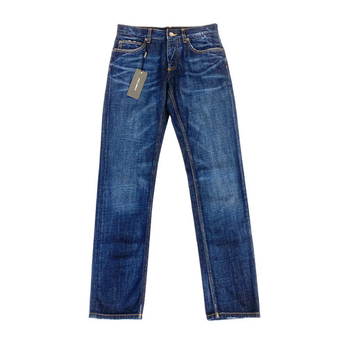 Dolce & Gabbana Pineapple Embroidered Denim Trousers- Front
