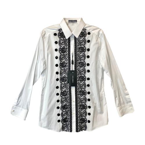 Dolce & Gabbana Floral Embroidered Dress Shirt- Front