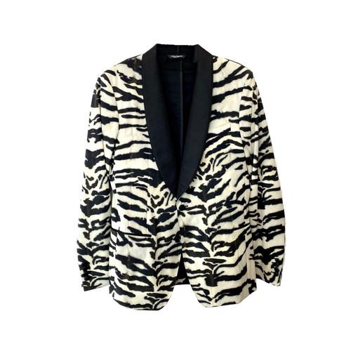 Dolce & Gabbana Zebra Print Suit Jacket- Front