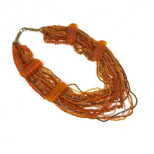 Multi Strand Layered Seed Bead Necklace-Thumbnail
