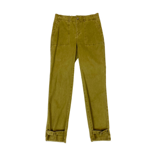 Peruvian Connection Olive Brushed Chino Pants- Front