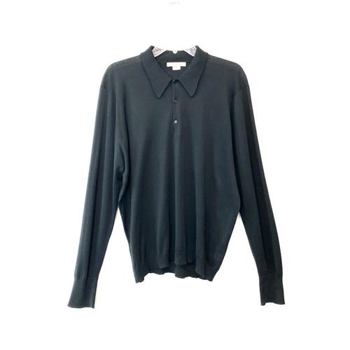 John Smedley Bradwell Sea Island Cotton Polo Shirt- Front