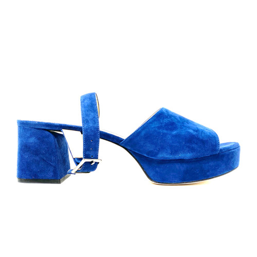 M. Gemi The Bella Navy Suede Sandals- Right
