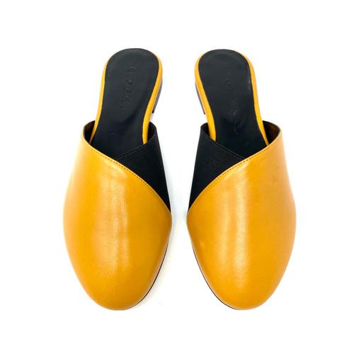 M. Gemi The Guanti Marigold Leather Slides- Top