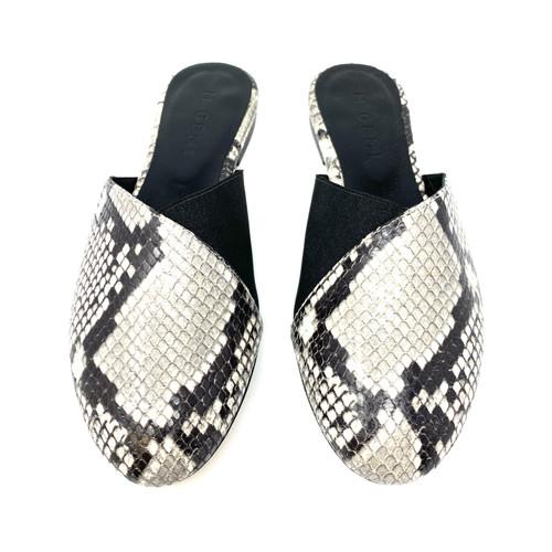 M. Gemi The Medio Due Black Suede Sandals- Top