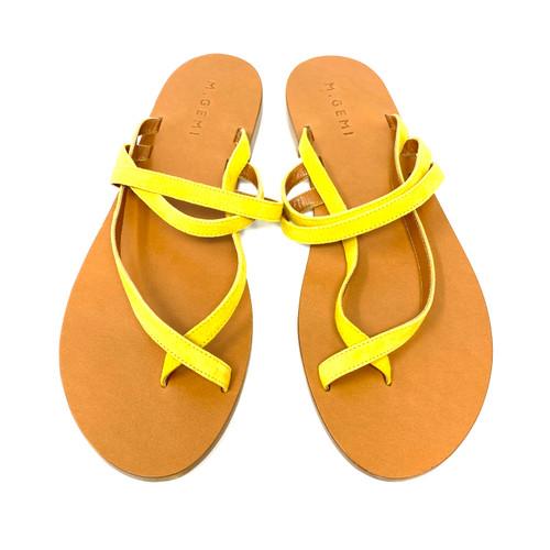 M. Gemi The Medio Due Sunflower Suede Sandals- Top