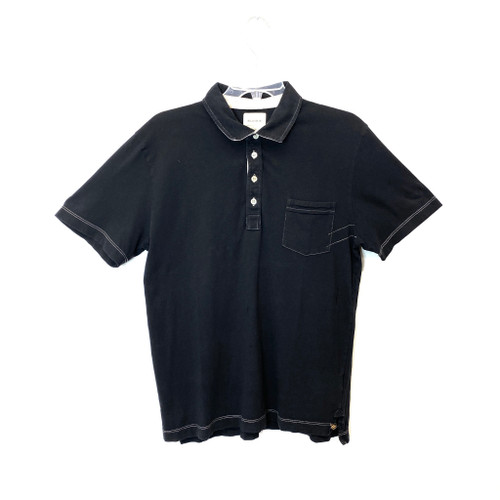 Billy Reid Short Sleeve Pocket Polo Shirt - Thumbnail